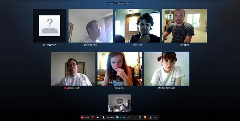 Họp trực tuyến qua Skype