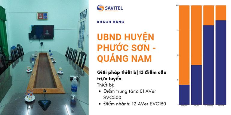 Giải Pháp Họp Trực Tuyến UBND Huyện Phước Sơn
