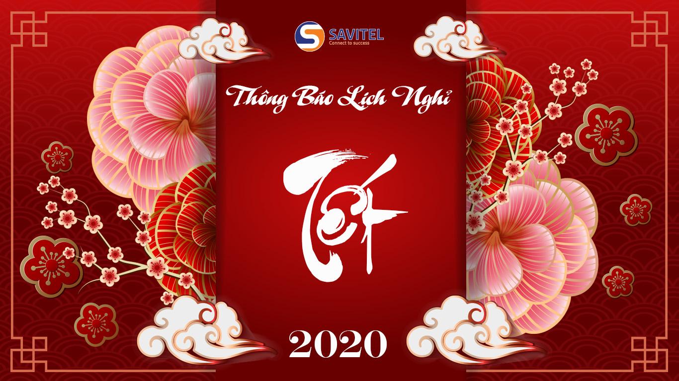 (Tiếng Việt) THÔNG BÁO LỊCH NGHỈ TẾT NGUYÊN ĐÁN 2020 1